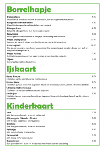 Borrel, kinder en ijskaart